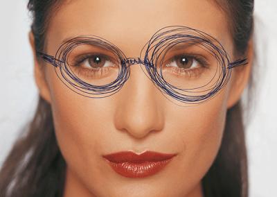 Brillen Drähte